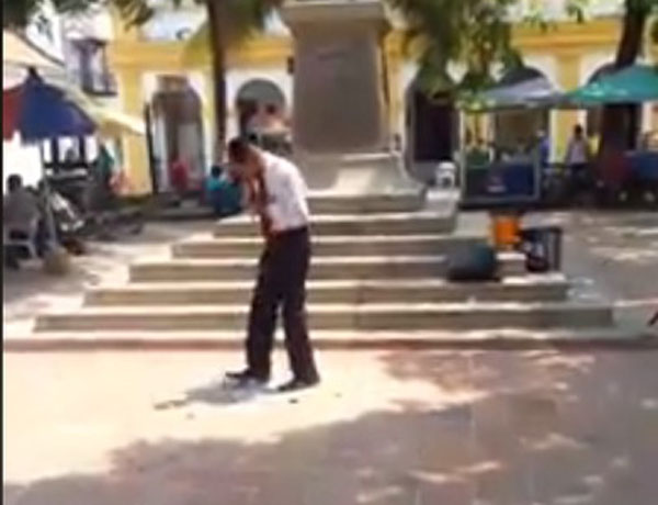 Pastor destruye imagen de Virgen del Carmen