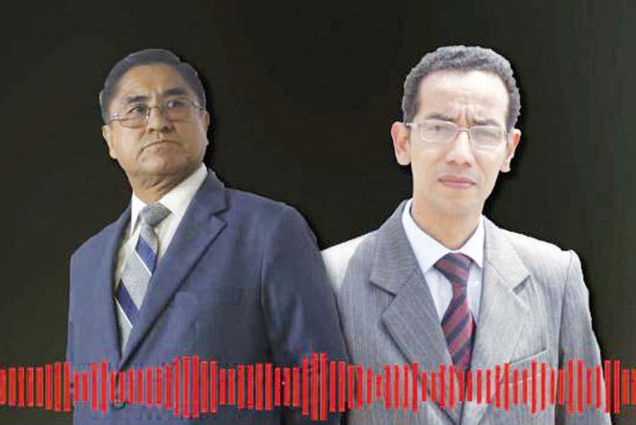 César Hinostroza y el fiscal Walther Delgado
