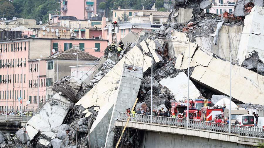 Tragedia en Génova por colapso de puente