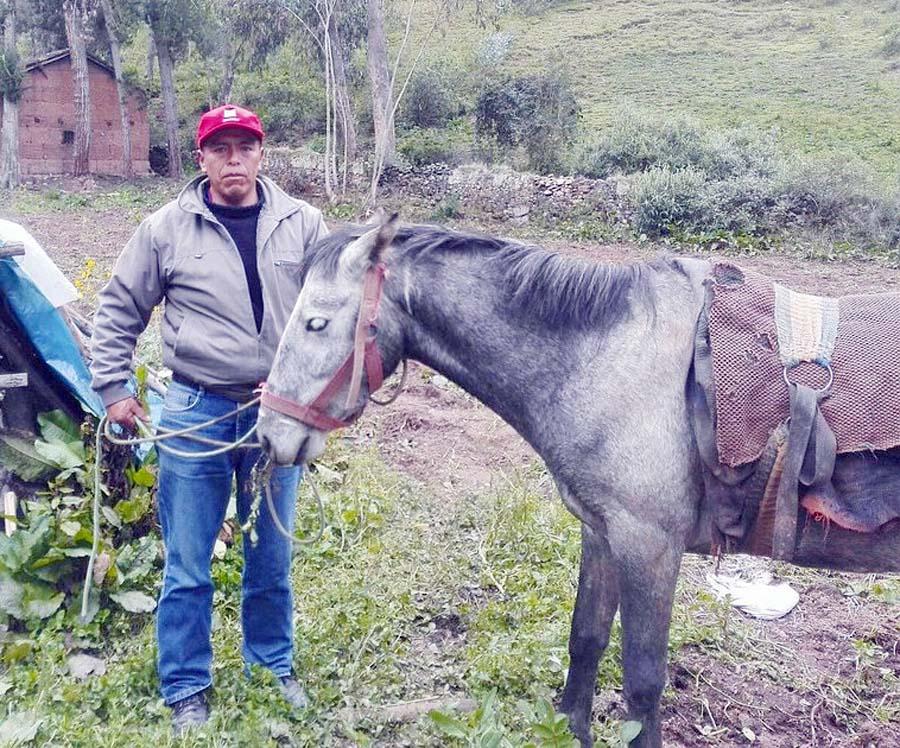 Román Diego Ccente (50), candidato a la alcaldía del distrito de Palca (Huancavelica)