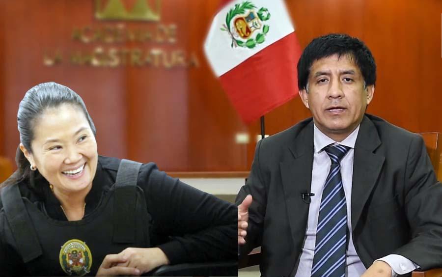 Keiko Fujimori y el juez Richard Concepción Carhuancho