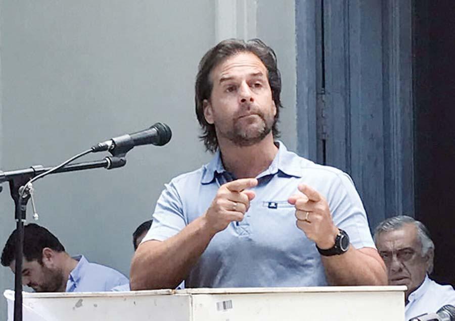 Senador uruguayo Luis Lacalle Pou