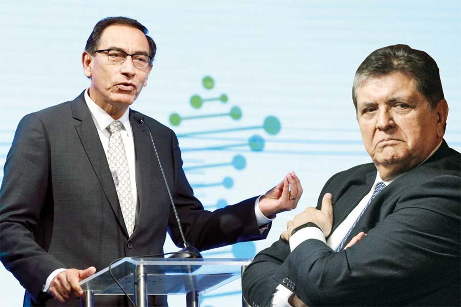 Presidente Martín Vizcarra y Alan García
