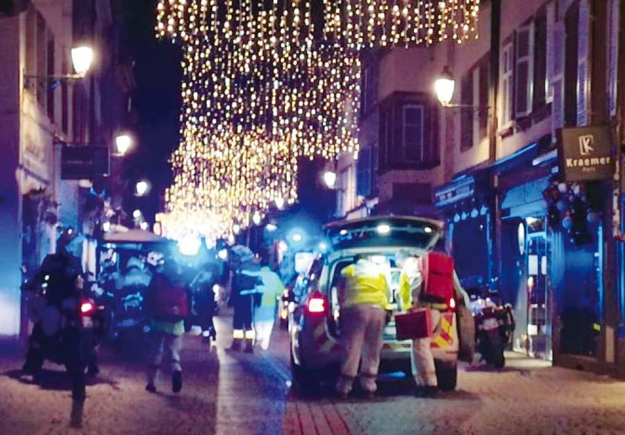 Cinco personas murieron y once resultaron heridas en un tiroteo en el centro de Estrasburgo