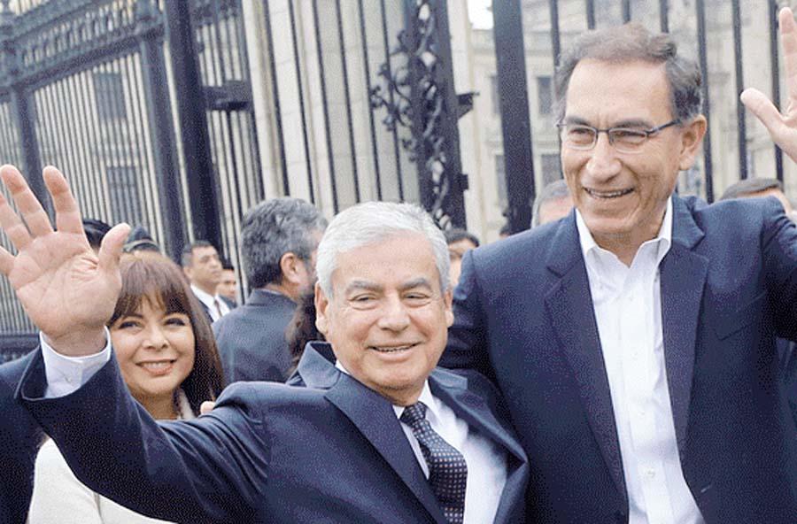 Presidente de la República, Martín Vizcarra, decidió brindarle su apoyo al jefe del Consejo de Ministros, César Villanueva
