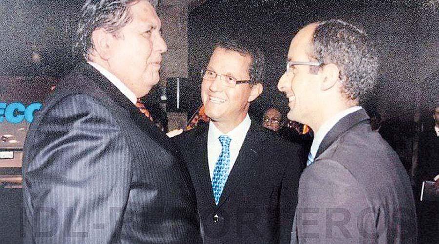 Alan García junto a personajes como Marcelo Odebrecht y Jorge Barata