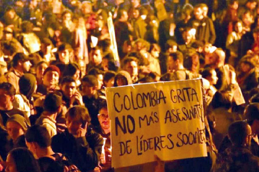 Asesinan a líder social colombiano