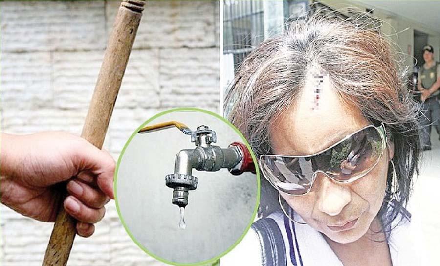 Inquilina es golpeada por pedir agua a dueño