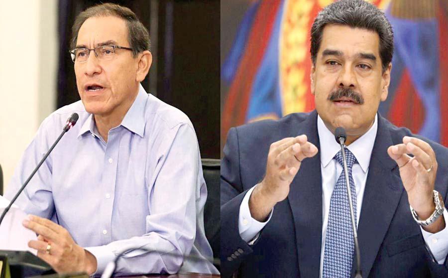 Martín Vizcarra veta a Nicolás Maduro