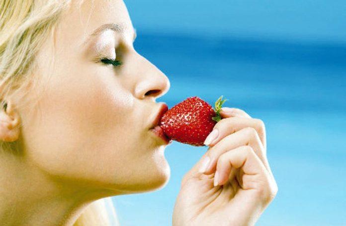 Comer fresas