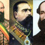 Mariano Melgarejo, Agustín Morales Hernández y Adolfo Ballivián