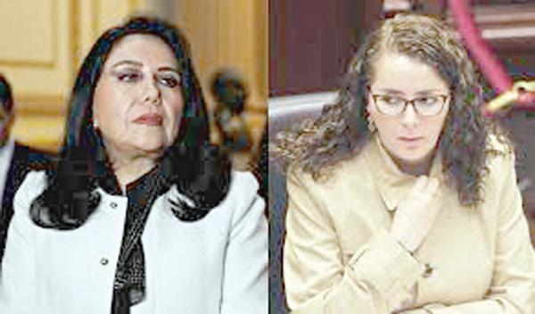 Ministra de la Mujer, Gloria Montenegro y Rosa Bartra