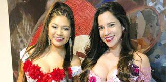 Cantante Flor Javier y actriz Vanessa Terkes
