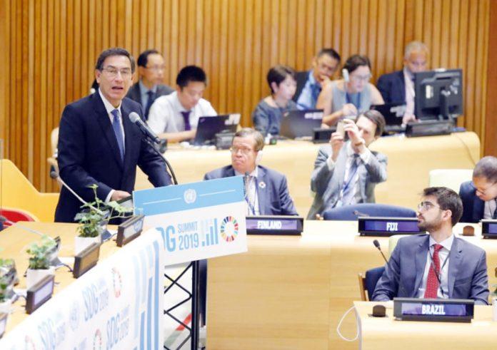 Martín Vizcarra en la Asamblea General de la Organización de las Naciones Unidas