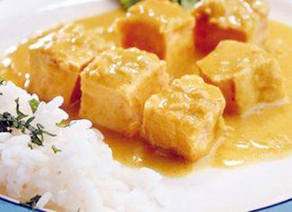 Pescado al curry