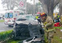 Atropelló en la avenida Javier Prado Oeste