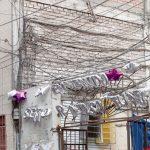 Cables aéreos en el Centro de Lima