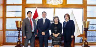 Fiscal de la Nación, Zoraida Ávalos Rivera, el alcalde de Surco, Jean Pierre Combe Portocarrero