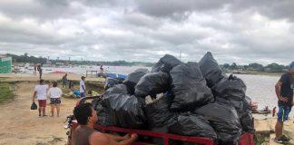 Limpieza del puerto del río Nanay