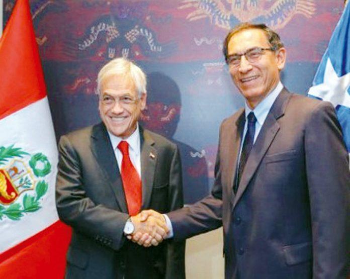 Martín Vizcarra y Sebastián Piñera