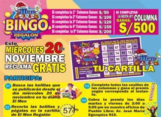 EL BINGO REGALÓN Promoción rrss