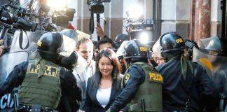 La lideresa de Fuerza Popular, Keiko Fujimori fue liberada