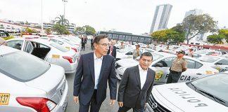 575 vehículos a la Policía Nacional del Perú