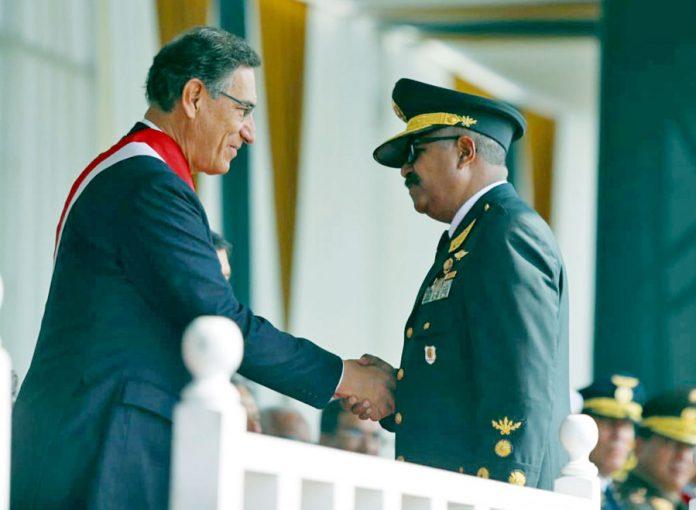 El jefe de Estado Martín Vizcarra, elogió la labor de la institución policial