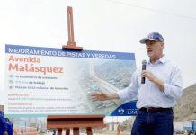 alcalde de Lima, Jorge Muñoz, visitó Manchay