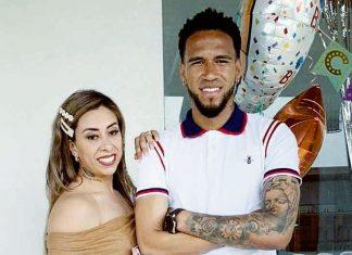 Pedro Gallese y su esposa Claudia Díaz