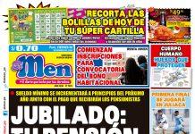 Portada impresa – Diario El Men (05/12/2019)