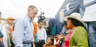 Alcalde Muñoz acudió a brindar apoyo a afectados en VES