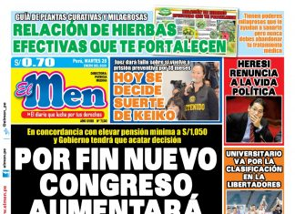 Portada impresa – Diario El Men (28/01/2020)