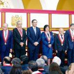 Presidente Martín Vizcarra en ceremonia de juramentación de Marianella Ledesma