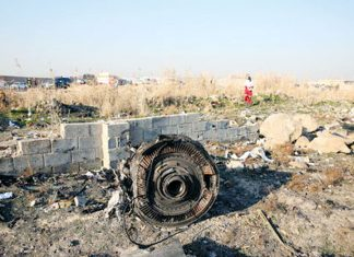 avión de pasajeros ucraniano caido