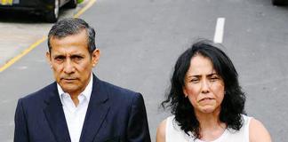 Exmandatario Ollanta Humala su esposa y la expresidenta del Partido Nacionalista Nadine Heredia
