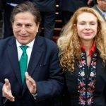 Expresidente Alejandro Toledo y su esposa, Eliane Karp