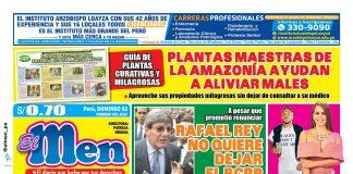 Portada impresa – Diario El Men (02/02/2020)