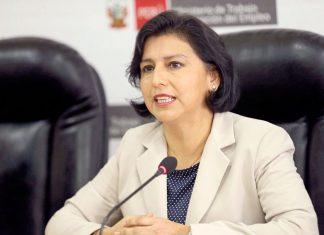 Ministra de Trabajo y Promoción del Empleo, Sylvia Cáceres Pizarro