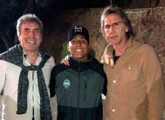Ricardo Gareca, Raúl Ruidíaz y Néstor Bonillo