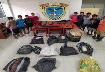 PNP captura a 9 sujetos con droga y armas en su poder