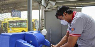 Intensifican medidas de salubridad en estaciones del Metropolitano