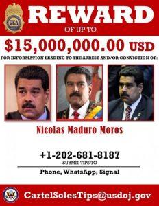 Recompensa por Nicolas Maduro