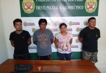 PNP captura a peligrosa banda de Pisco