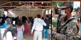 Religiosos detenidos en capilla