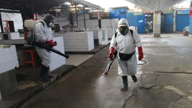 desinfección en mercados