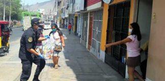Entregan 2,000 paquetes alimentarios a familias de policías infectados