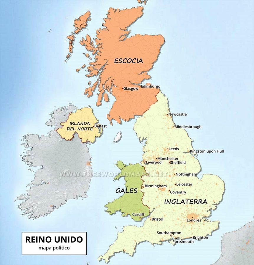 Reino Unido mapa