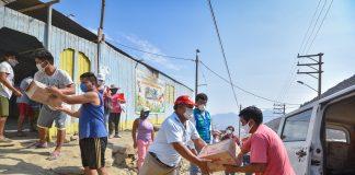 Familias vulnerables de SJL reciben donación de productos de primera necesidad