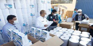 Ministro Zamora supervisó entrega de 80 mil mascarillas